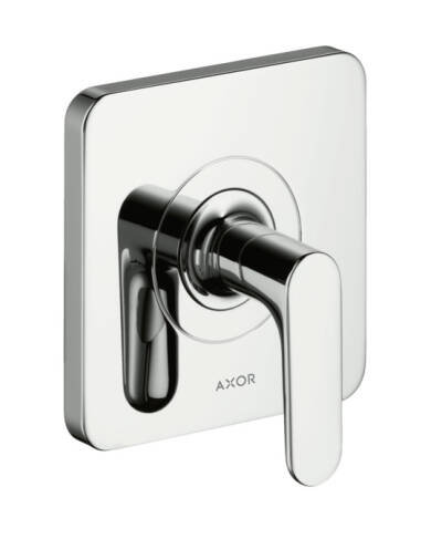 Shut-off valve for concealed installation with lever handle