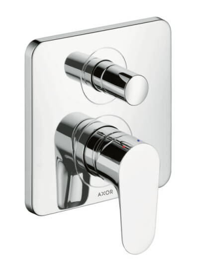 Single lever bath mixer for concealed installation with integrated security combination according to EN1717