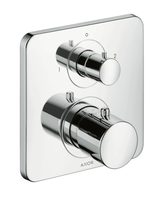 axor citterio m shower mixers designed to run 2 outlets. Black Bedroom Furniture Sets. Home Design Ideas