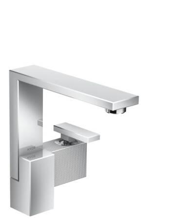 Mezclador monomando de lavabo 190 con vaciador push-open- corte de diamante