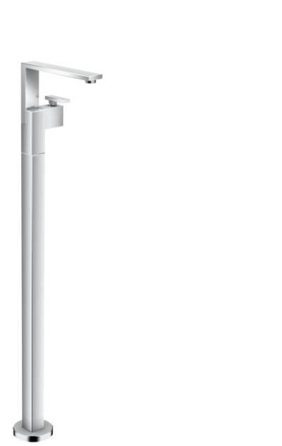 Mezclador monomando de lavabo de pie con push-open