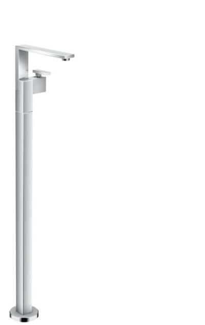 Mezclador monomando de lavabo de pie con push-open - corte de diamante