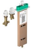 Set básico para mezclador monomando de 3 agujeros para borde de bañera
