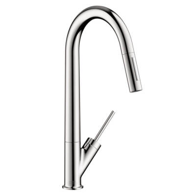 Axor Starck 2-Spray HighArc Kitchen Faucet, Pull-Down
