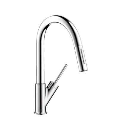 Axor Starck 2-Spray Prep Kitchen Faucet, Pull-Down
