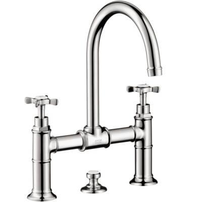 Axor Montreux Widespread Faucet with Cross Handles, Bridge Model