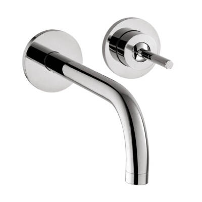 Single lever basin mixer for concealed installation wall-mounted with spout