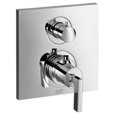 Axor Citterio Thermostatic Trim with Volume Control, Lever Handle