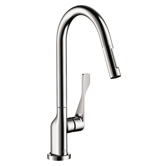 axor kitchen faucets axor citterio axor citterio 2 spray higharc kitchen faucet pull down 1. Black Bedroom Furniture Sets. Home Design Ideas