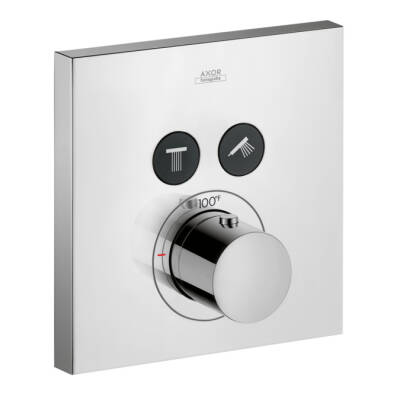 Axor ShowerSelect Square Thermostatic 2-Function Trim
