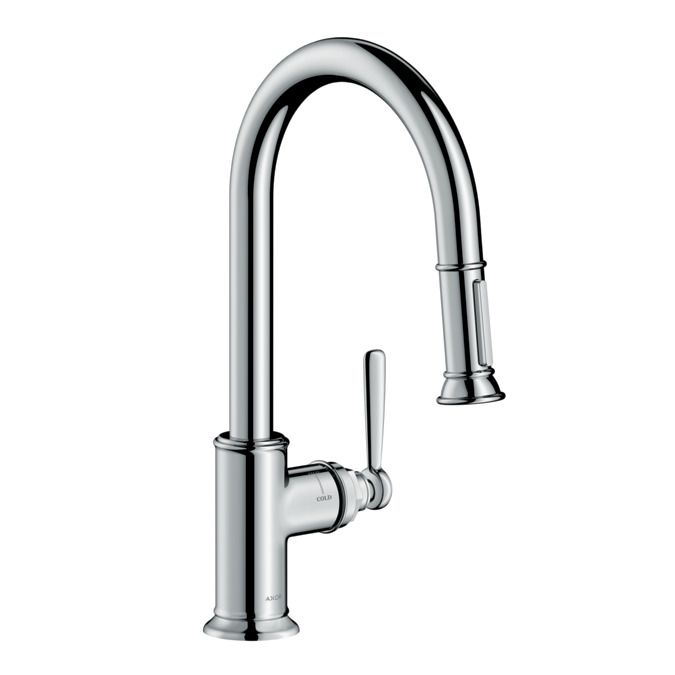 AXOR Montreux 2 Spray HighArc Kitchen Faucet, Pull Down, 1.75 GPM