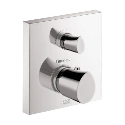 Thermostat for concealed installation with shut-off valve