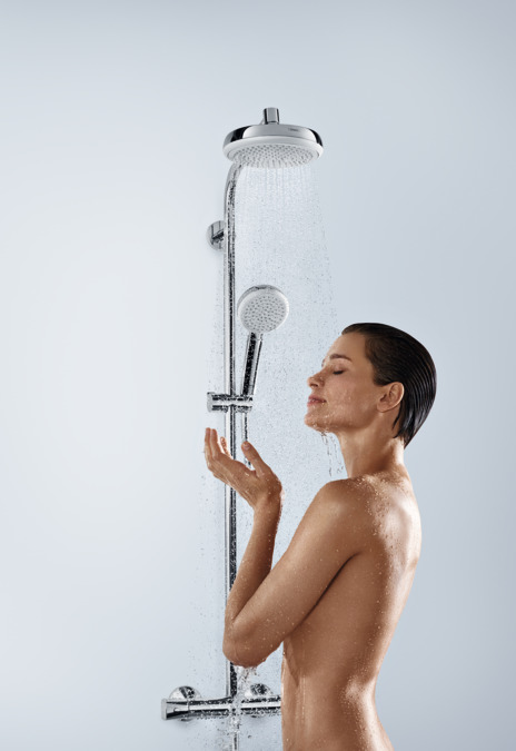 hansgrohe shower pipes crometta 1 spray mode 27266400. Black Bedroom Furniture Sets. Home Design Ideas