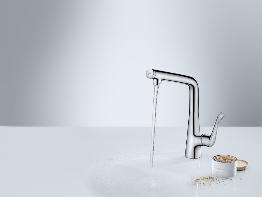 hansgrohe Kitchen mixers: Metris Select, Single lever kitchen mixer ...