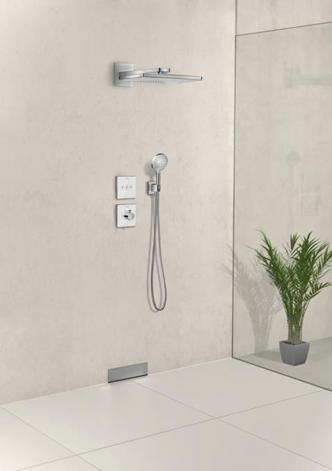 hansgrohe brausehalter fixfit wandanschluss square mit brausehalter 26486000. Black Bedroom Furniture Sets. Home Design Ideas