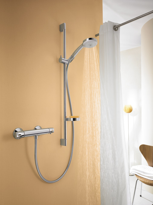 Relativ hansgrohe Wallbar sets: Croma 100, Shower set Multi with shower LB79