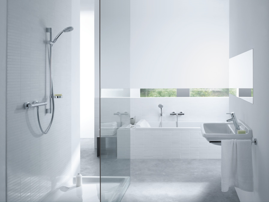 hansgrohe Shower sets: Croma 100, Shower system for exposed ...