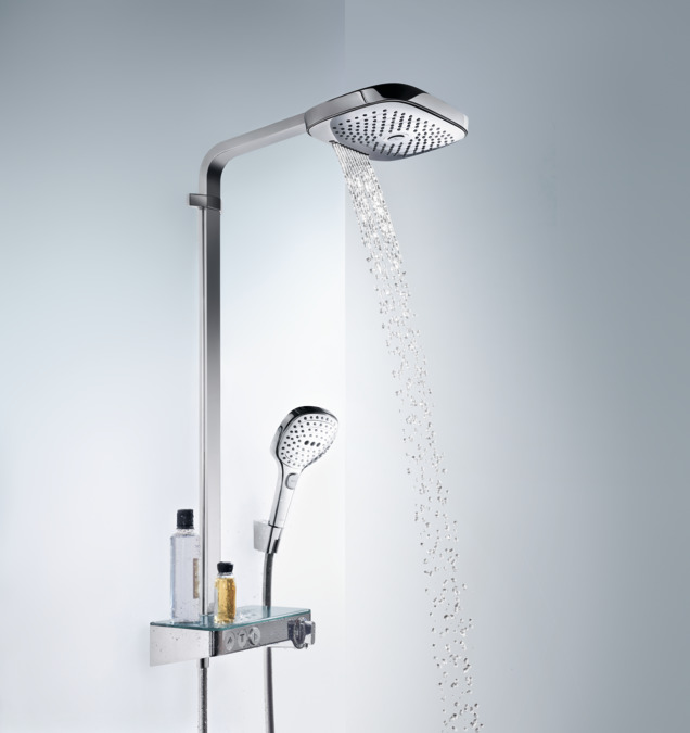 hansgrohe shower pipes raindance select e 3 spray modes. Black Bedroom Furniture Sets. Home Design Ideas