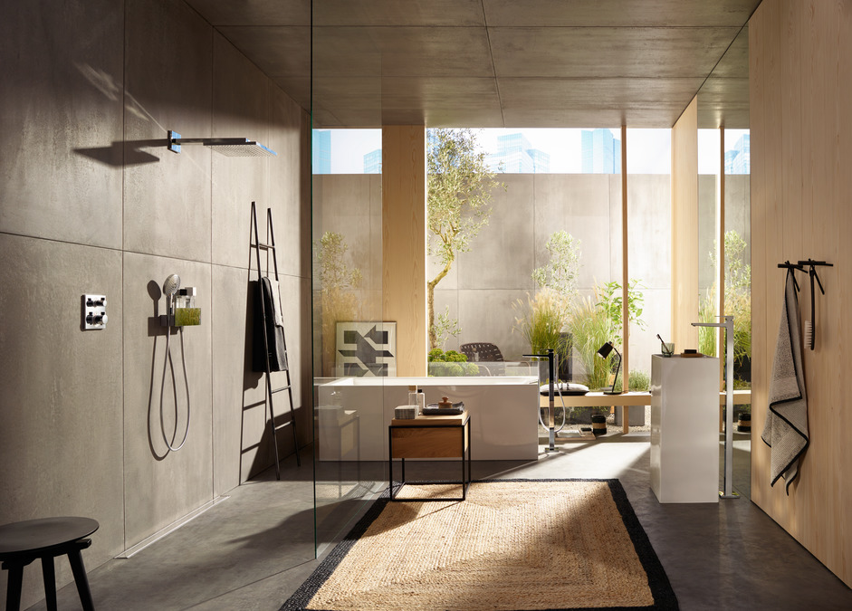 hansgrohe overhead showers raindance e 1 spray mode 26238000. Black Bedroom Furniture Sets. Home Design Ideas