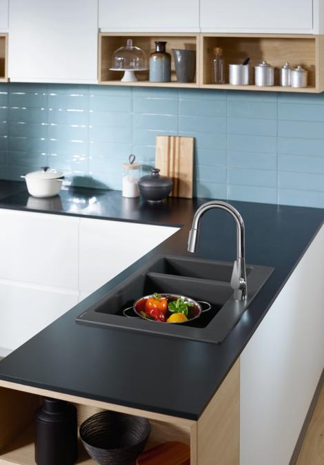 hansgrohe mitigeurs de cuisine m51 m5116 h160 mitigeur. Black Bedroom Furniture Sets. Home Design Ideas