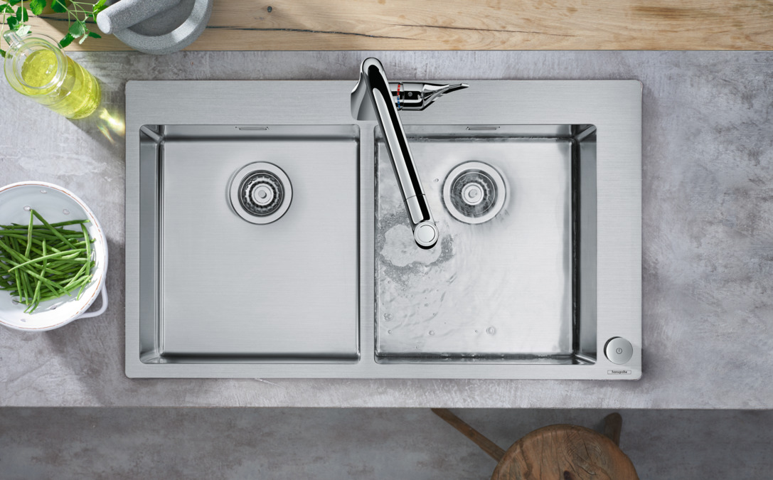 hansgrohe Kitchen mixers: M71, M7120-H320 2-hole single lever ...