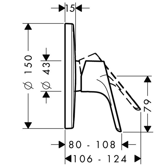 cromo Hansgrohe 31965000 Focus grifo de ducha empotrado