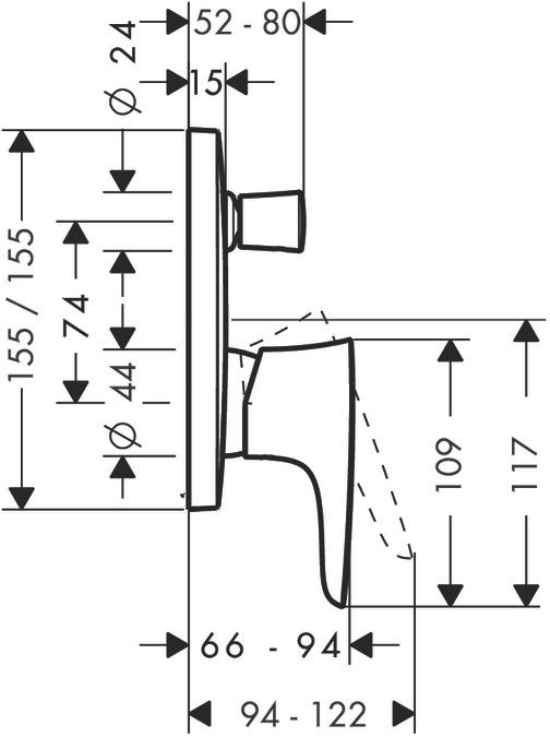 PuraVida Bath mixers: designed to run 2 outlets, chrome