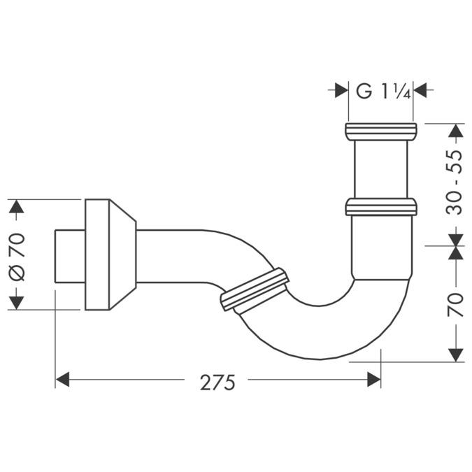 Axor Siphons Angle Valves Bidet Pipe Trap Standard Model 51315000