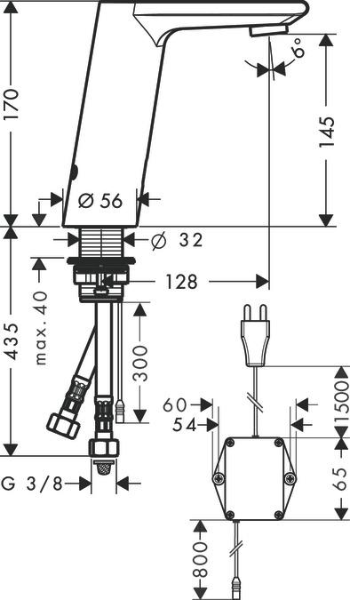 Metris S Washbasin Mixers Chrome 31103000