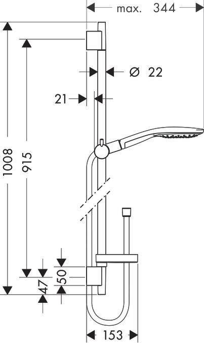 hansgrohe brausesets raindance select s brauseset 150 3jet mit brausestange 90 cm und. Black Bedroom Furniture Sets. Home Design Ideas