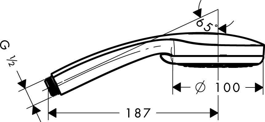 Hansgrohe Handbrausen Croma 100 4 Strahlarten 28535000