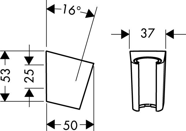 hansgrohe brausehalter brausehalter porter s 28331000. Black Bedroom Furniture Sets. Home Design Ideas