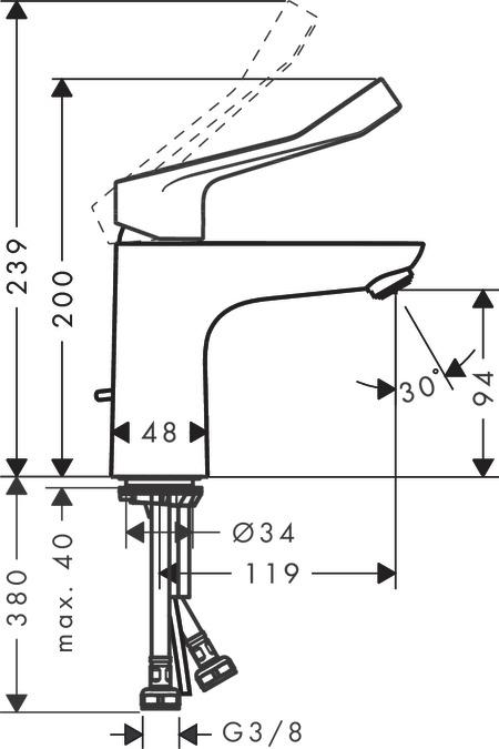 focus washbasin mixers chrome 31911000. Black Bedroom Furniture Sets. Home Design Ideas