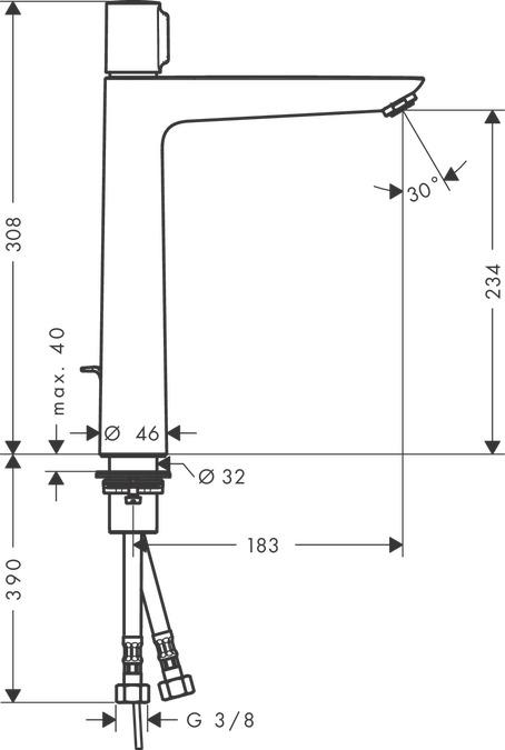 Showa Gants Shos541-m S-tex 541/Gant M noir taille