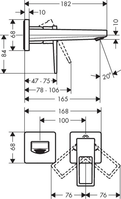 Hansgrohe Metropol Metropol Single Lever Basin Mixer For