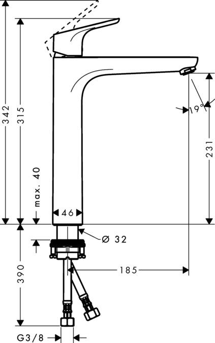 focus waschtischmischer chrom 31532000. Black Bedroom Furniture Sets. Home Design Ideas