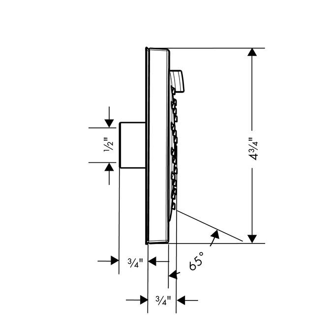hansgrohe bodysprays raindance s 1 spray mode 28472821. Black Bedroom Furniture Sets. Home Design Ideas
