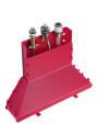 Basic set for 3-hole rim mounted single lever bath mixer