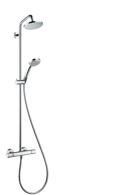 hansgrohe showerpipes croma 1 type de jet 27135000. Black Bedroom Furniture Sets. Home Design Ideas