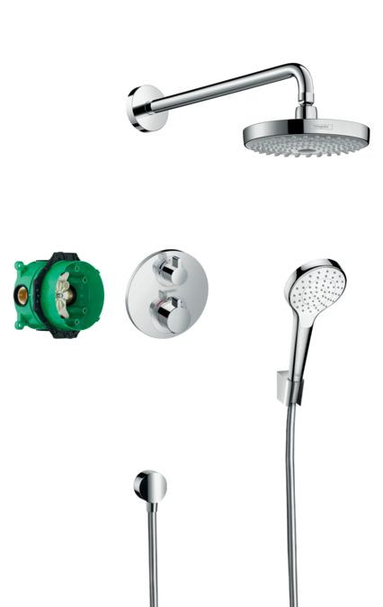 hansgrohe shower sets croma select s shower system for. Black Bedroom Furniture Sets. Home Design Ideas