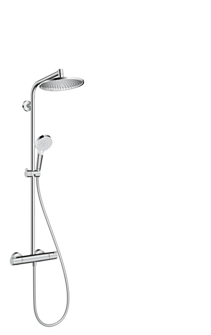 hansgrohe shower pipes crometta 1 spray mode 27267000. Black Bedroom Furniture Sets. Home Design Ideas