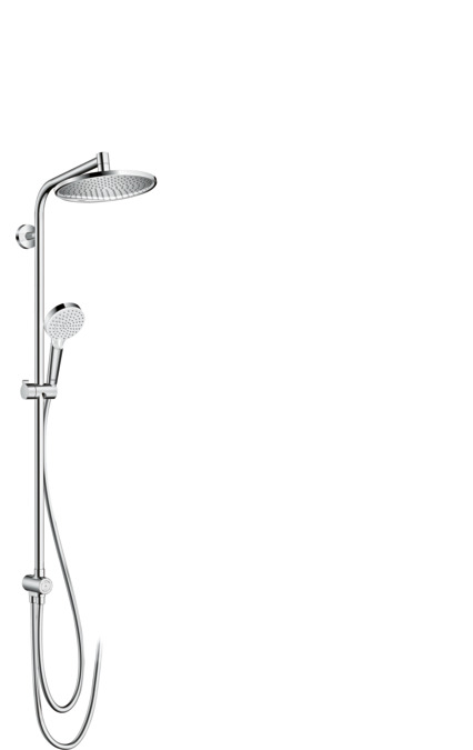 hansgrohe shower pipes crometta s 1 spray mode 27270000. Black Bedroom Furniture Sets. Home Design Ideas