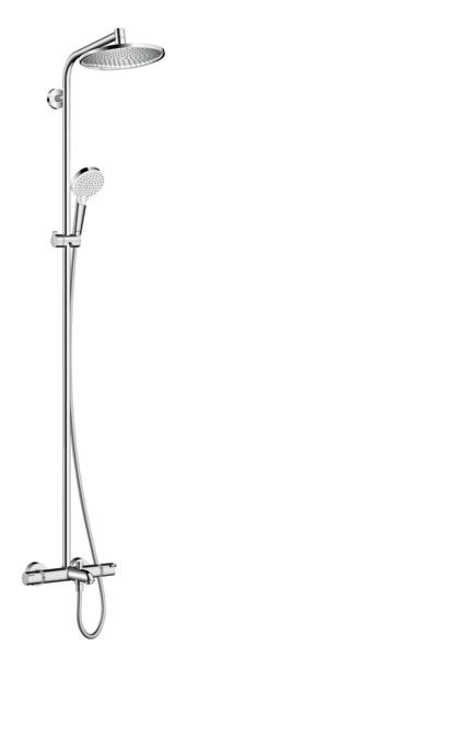 hansgrohe showerpipes crometta s 1 type de jet 27320000. Black Bedroom Furniture Sets. Home Design Ideas