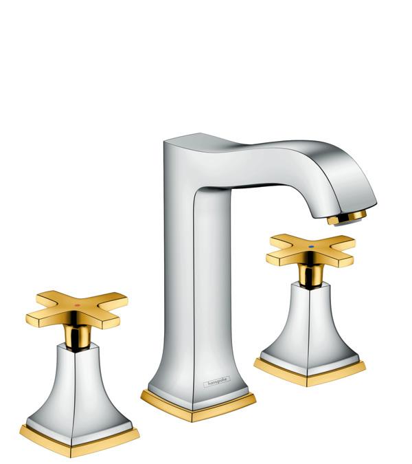 metropol classic waschtischmischer chrom gold optik 31307090. Black Bedroom Furniture Sets. Home Design Ideas