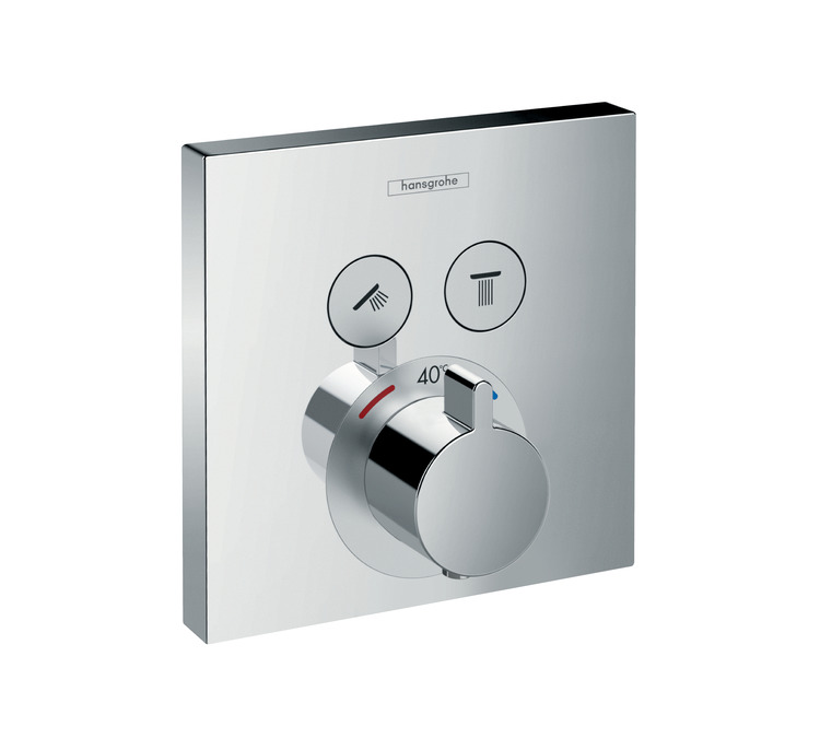 ShowerSelect Shower mixers: designed to run 2 outlets, chrome, 15763000