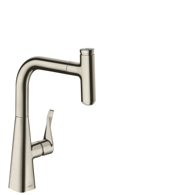 Hansgrohe kitchen mixers m71 m7115 h240 single lever kitchen mixer with pull out spout 73802800 - Hansgrohe rubinetti cucina ...