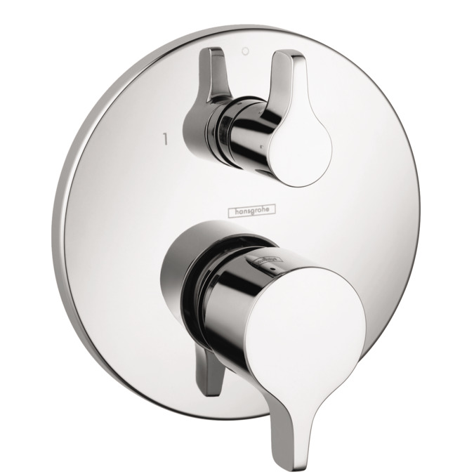 ecostat shower faucets 2 outlets chrome 04448000. Black Bedroom Furniture Sets. Home Design Ideas