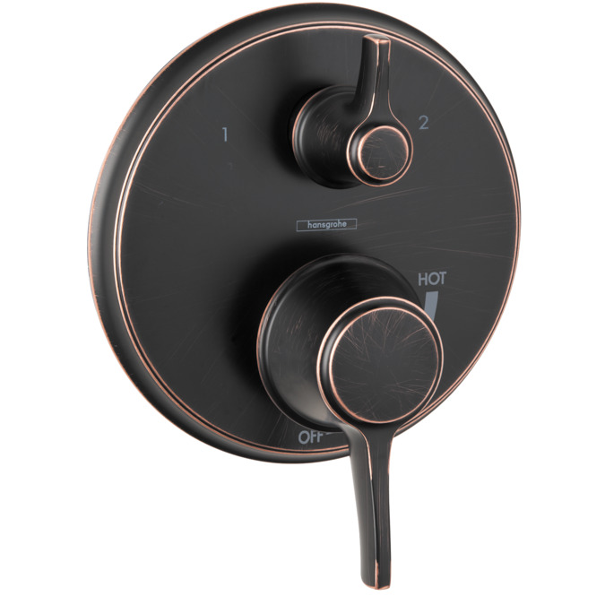 metris c shower faucets 2 outlets rubbed bronze 04449920. Black Bedroom Furniture Sets. Home Design Ideas