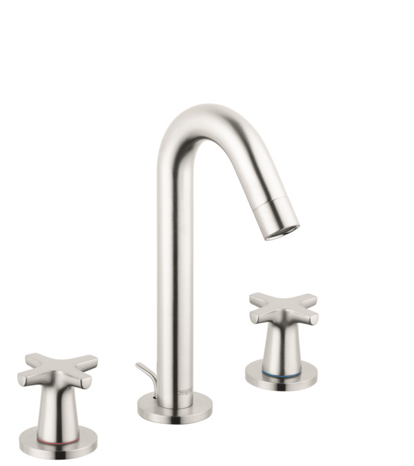logis classic washbasin faucets brushed nickel 71323821. Black Bedroom Furniture Sets. Home Design Ideas