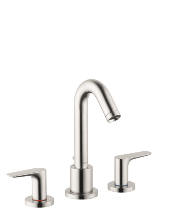 logis bath faucets 1 consumer brushed nickel 71500821. Black Bedroom Furniture Sets. Home Design Ideas